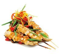 Marinated chisken skewers with fresh peppers | Corporate lunch catering Surrey