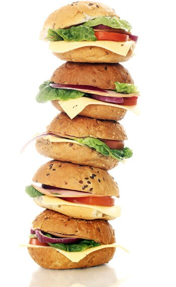 A stack of sandwich rolls | Office Sandwich Catering Hamphire