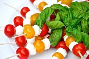 Tomato Mozzarella Skewers | Business Lunches Catering Surrey