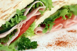 A ham, tomato and lettuce sandwich | Office Catering Woking