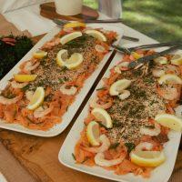 Freshly Baked Salmon, with dill, lemon juice, sea salt and black pepper