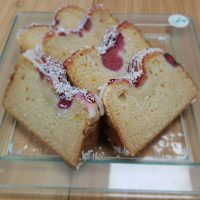 Vegan Coconut & Raspberry Cake