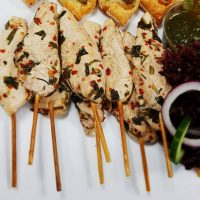 Lemon, Chilli and Coriander Chicken Brochettes