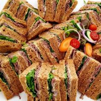 Rare Roast Beef, Rocket and Horseradish Sandwich