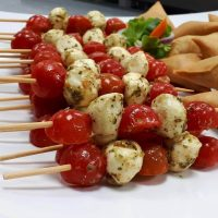 Bocconcini and Tomato Caprese Brochettes