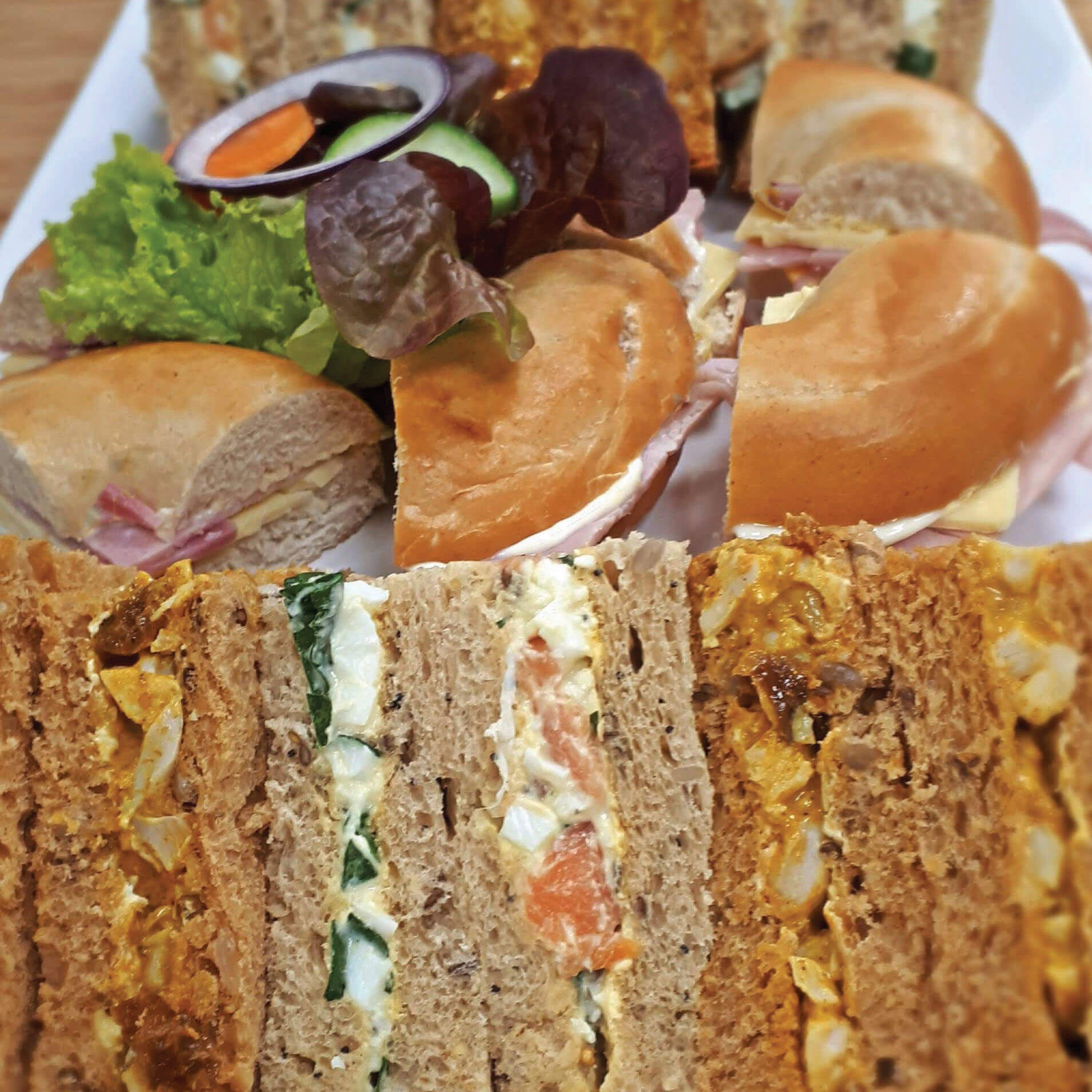 Selection of Sandwiches and Bagels