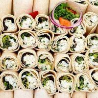Grilled Courgette, Feta & Pesto Wrap (v)
